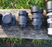 Canon EOS R Adapter mit Objektiven