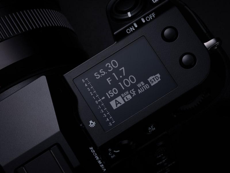 GFX100S Schulterdisplay