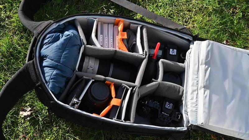 Fotorucksack gepackt