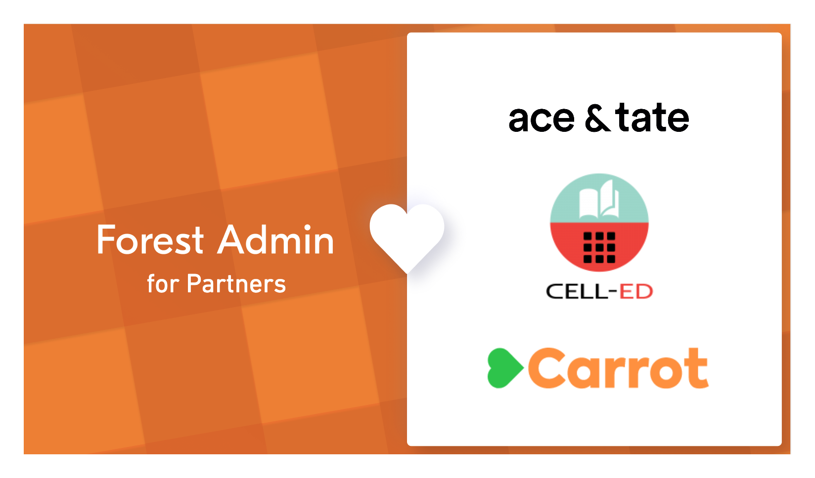 Forest Admin for Partners : how Cell-Ed, Ace&Tate and Carrot shipped great external tools in record time