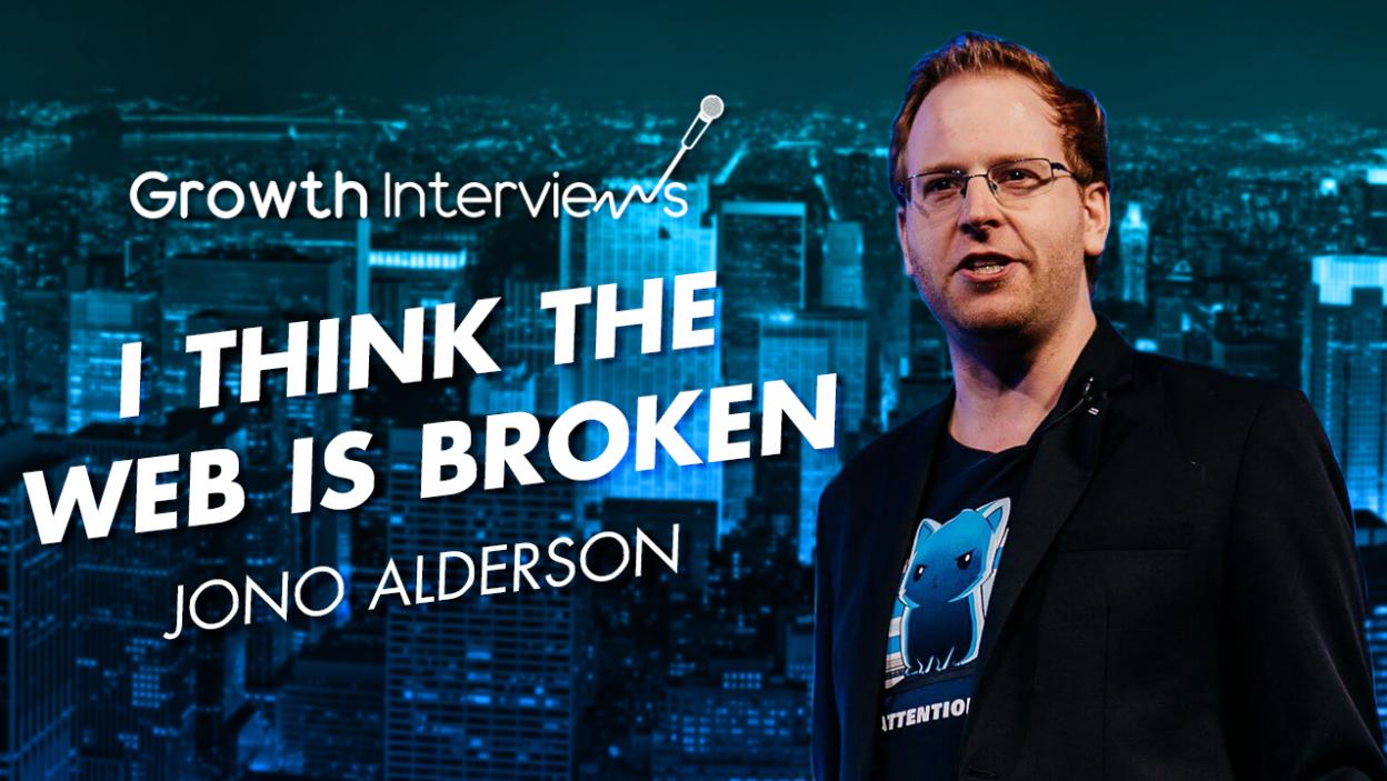 Jono Alderson web is broken