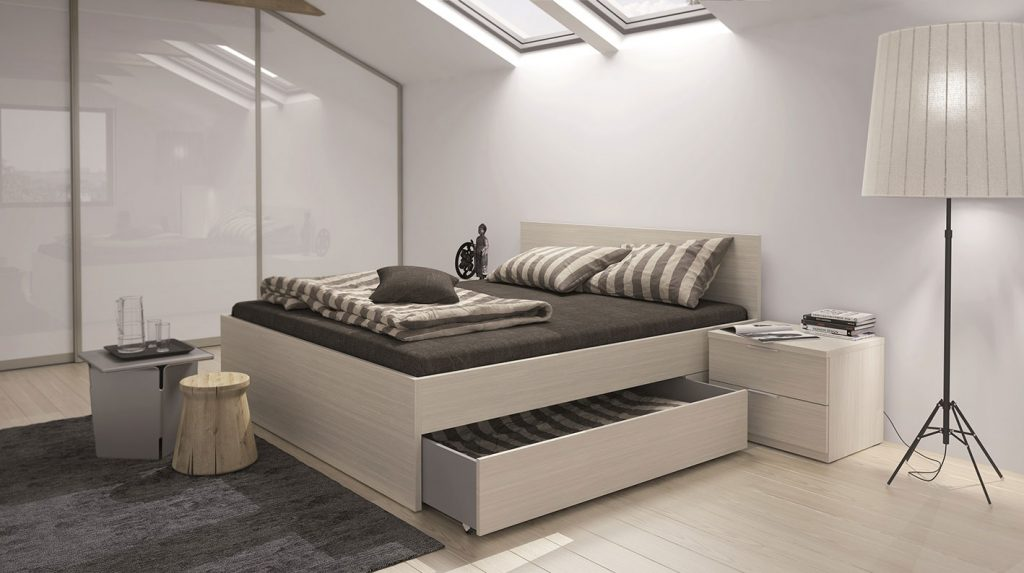 hanak bedroom bed with drawer