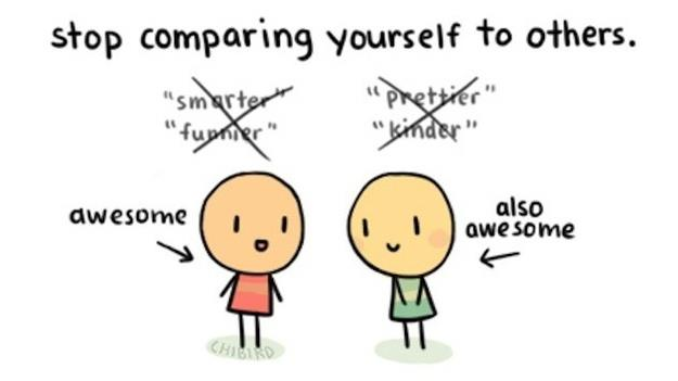 stop jezelf met anderen te vergelijken