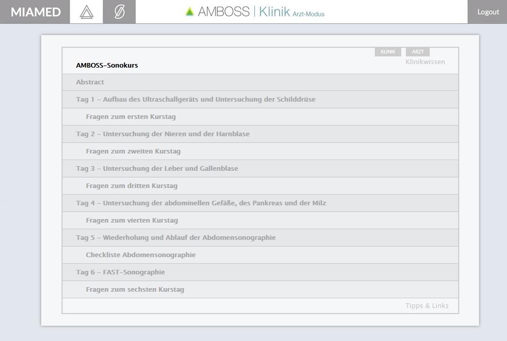 Online-Sonokurs mit Videos und Illustrationen | AMBOSS