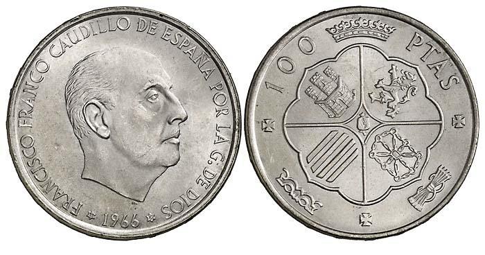 28e6e5f6cfba Diferentes estrellas en las 100 pesetas de Franco - Blog Numismatico