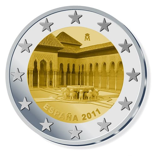 Diseño de los 2 euros conmemorativos de 2011
