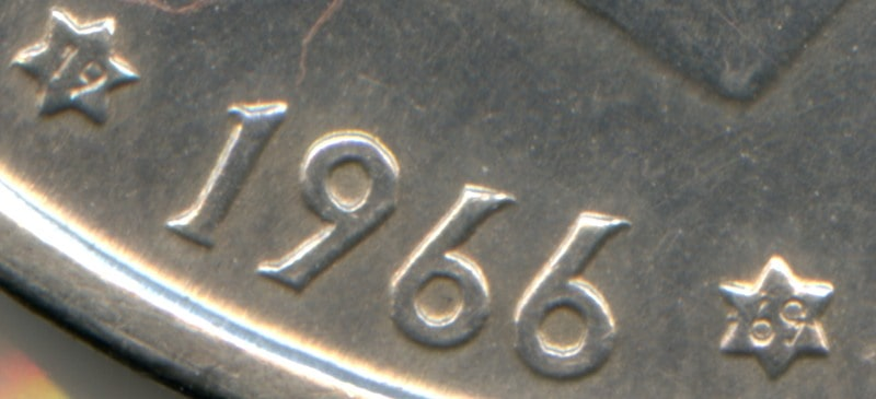 Diferentes estrellas en las 100 pesetas de Franco (II)