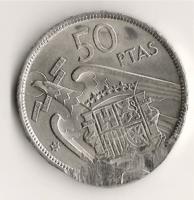 50 pesetas de 1957*69 con error de acuñación