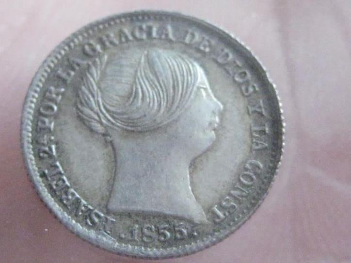 Coleccionar monedas de 1 real de Isabel II