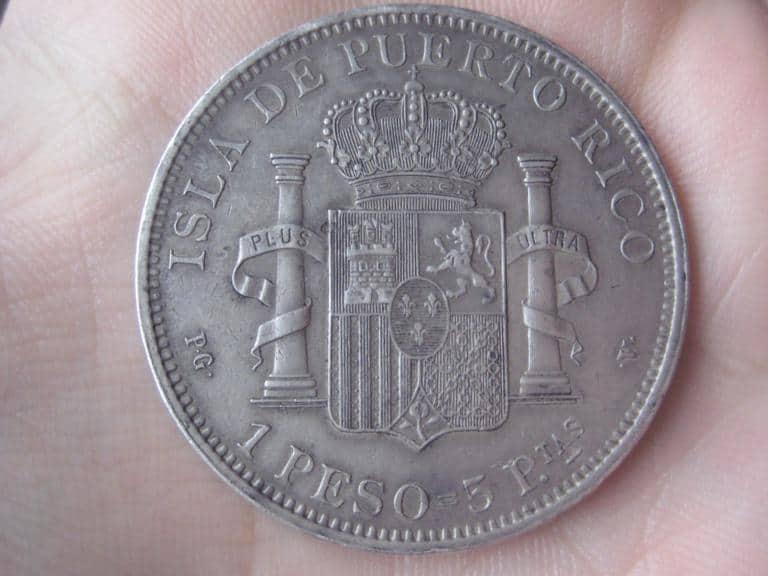 Peso de Puerto Rico de 1895 auténtico y falso