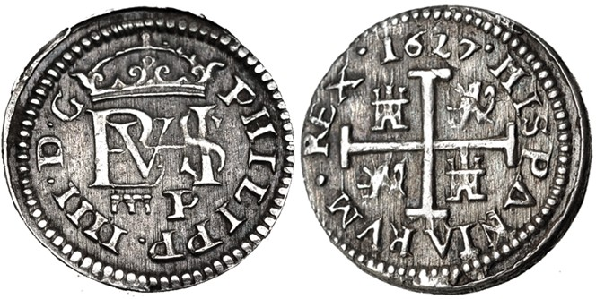 medio real Segovia 1627