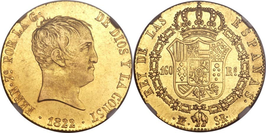 160 reales 1822