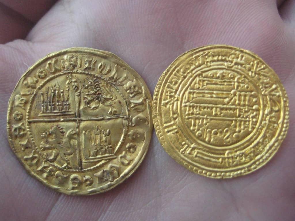 El color de las monedas