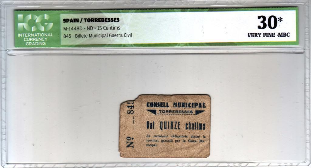 Coleccionar billetes locales de la Guerra Civil Española