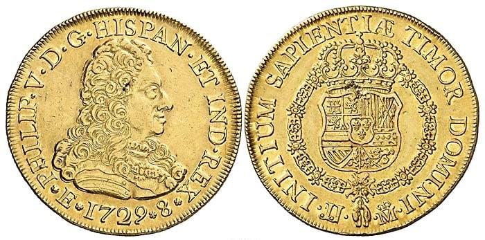 Consulta sobre los 8 escudos madrileños de 1729