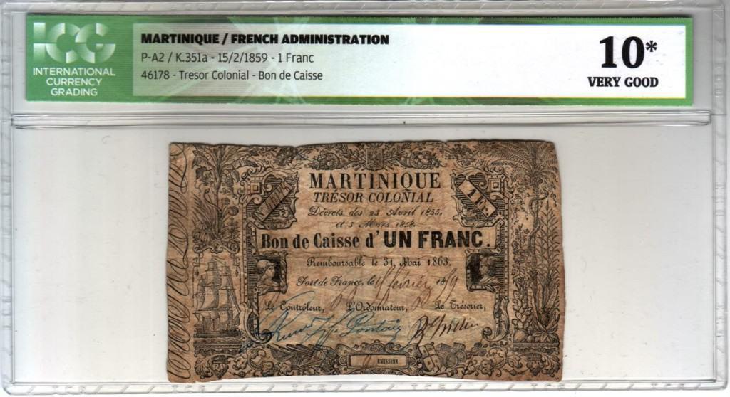Los billetes coloniales franceses