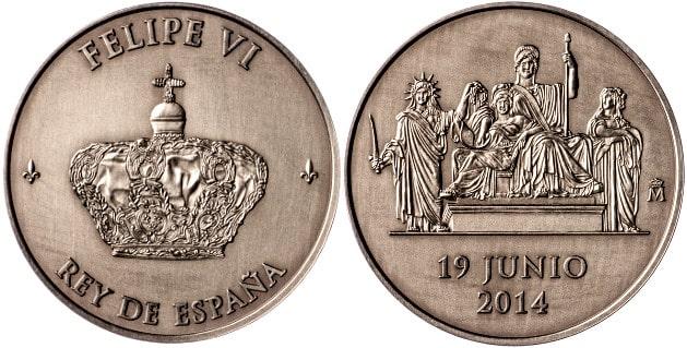 La medalla de proclamación de Felipe VI