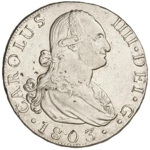 Coleccionar 8 reales de Carlos IV