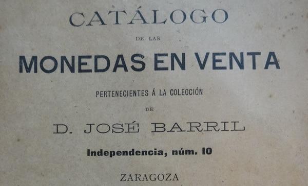 Las monedas en venta de José Barril en 1892 (1 de 2)