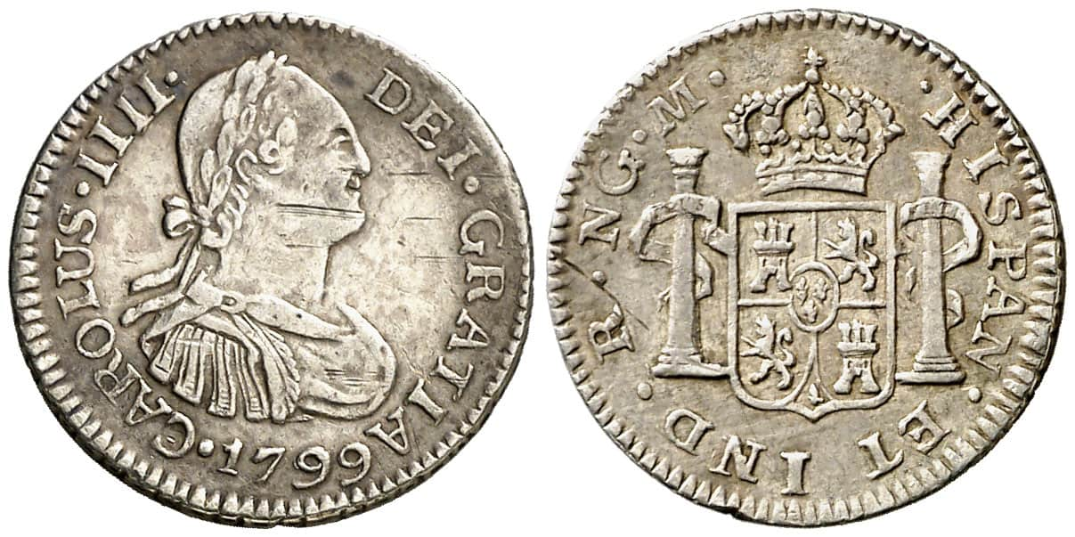 medio real Nueva Guatemala 1799