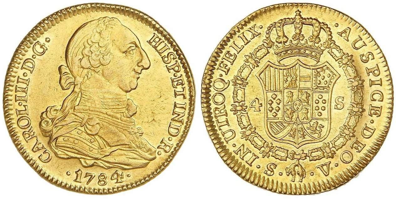 4 escudos Sevilla 1784