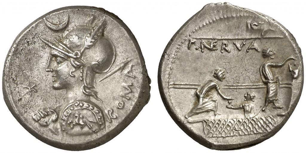 denario Licinus Nerva