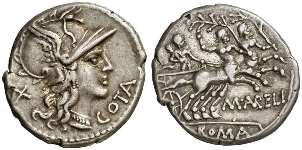 denario Marco Aurelius Cotta