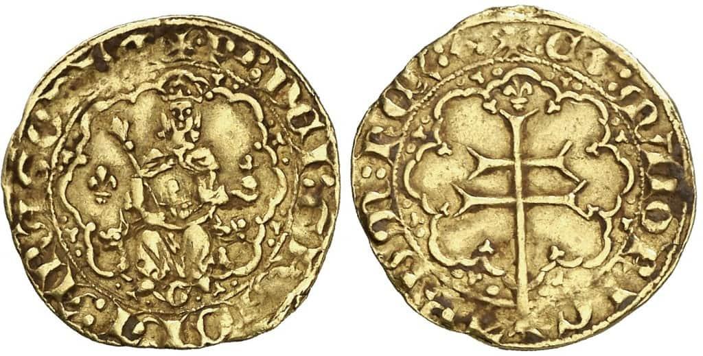 medio real de Mallorca de Pedro IV