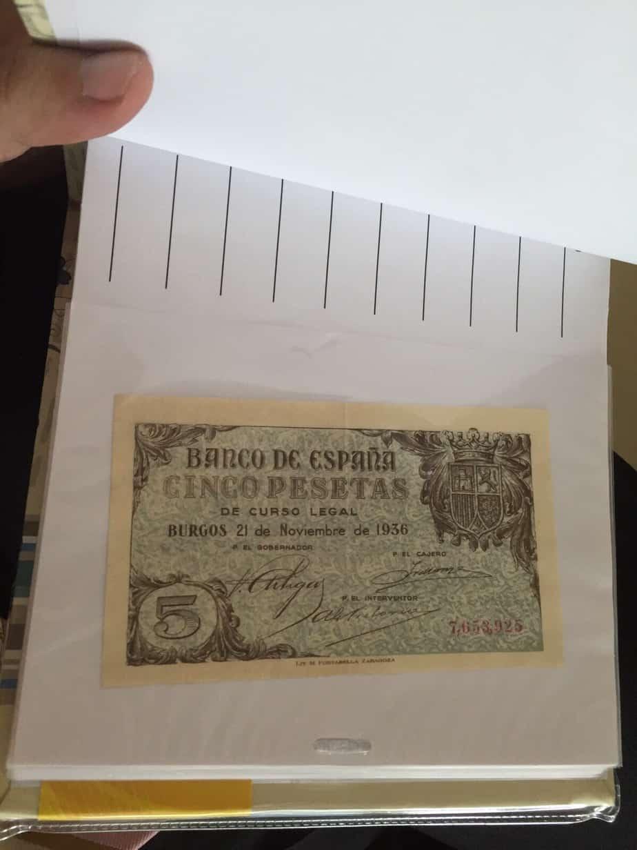 5 pesetas 1936