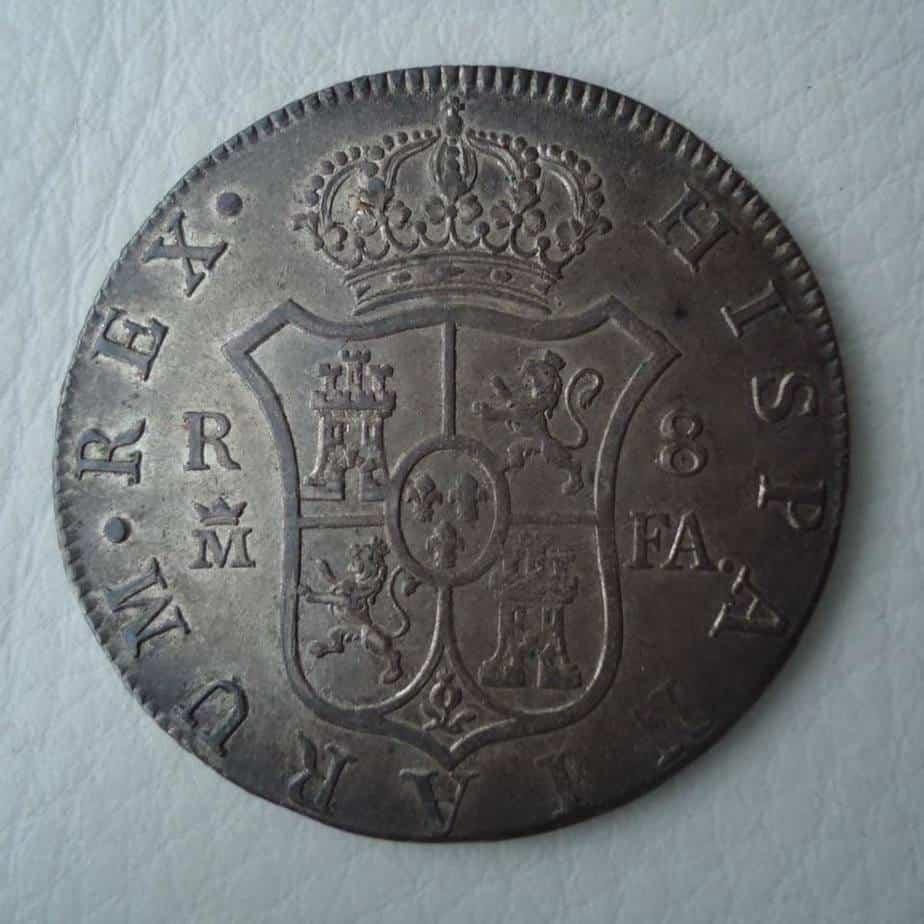 moneda con pátina