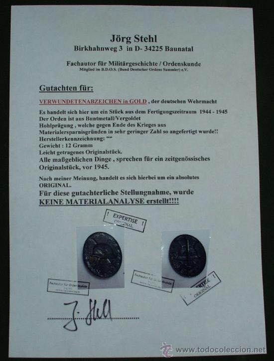 certificado autenticidad alemán