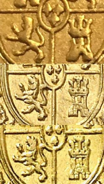 escudo moneda falsa y auténtica