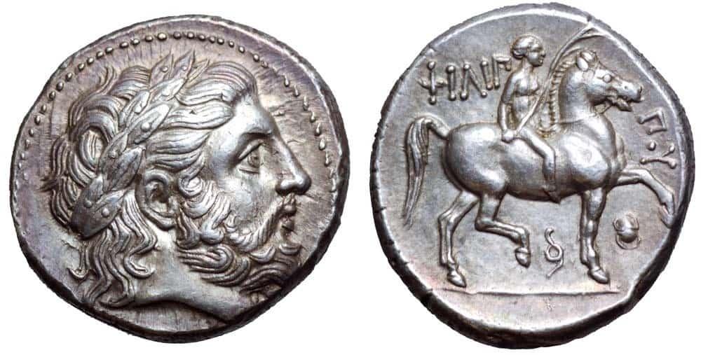 tetradracma póstumo de Filipo II