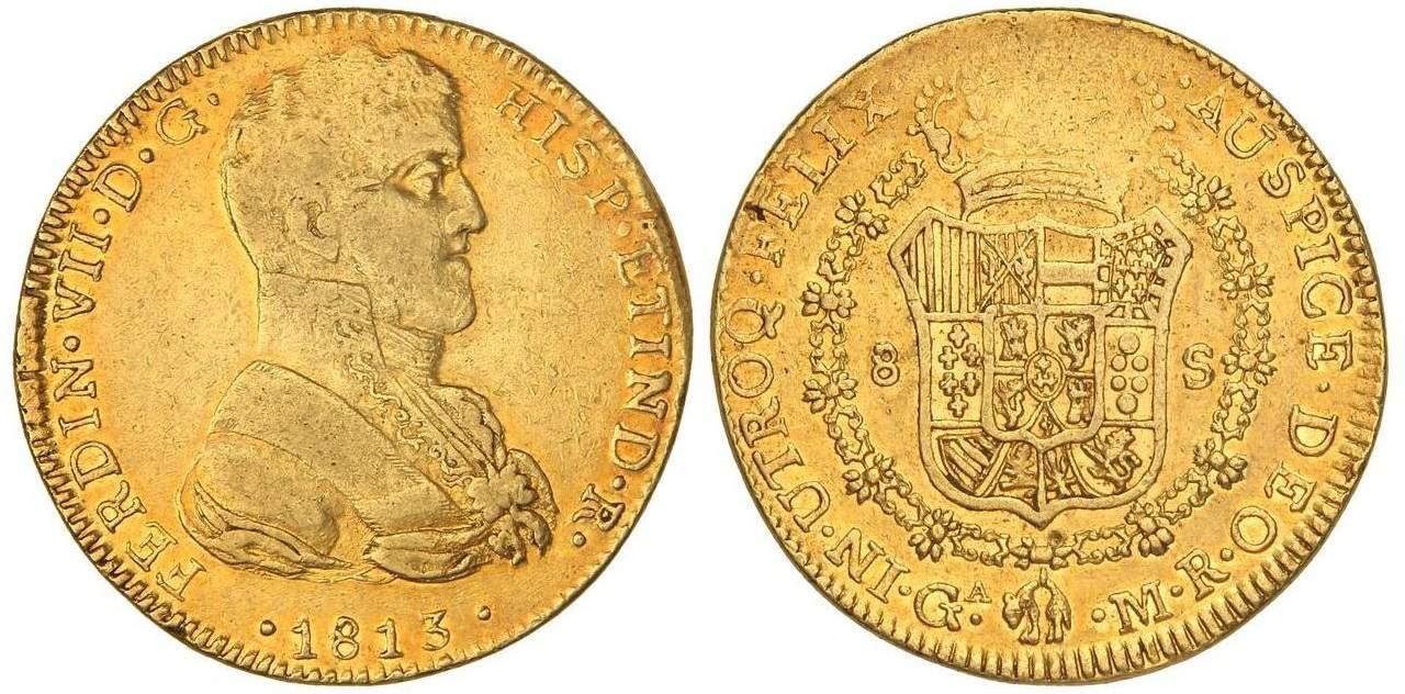 8 escudos Guatemala Fernando VII