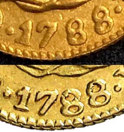 Medio escudo de 1788 falso