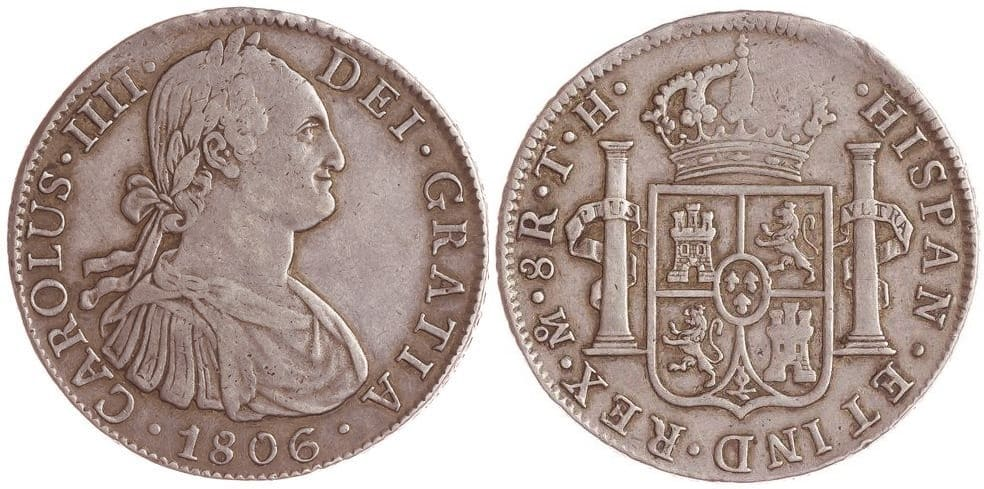 8 reales Carlos IV