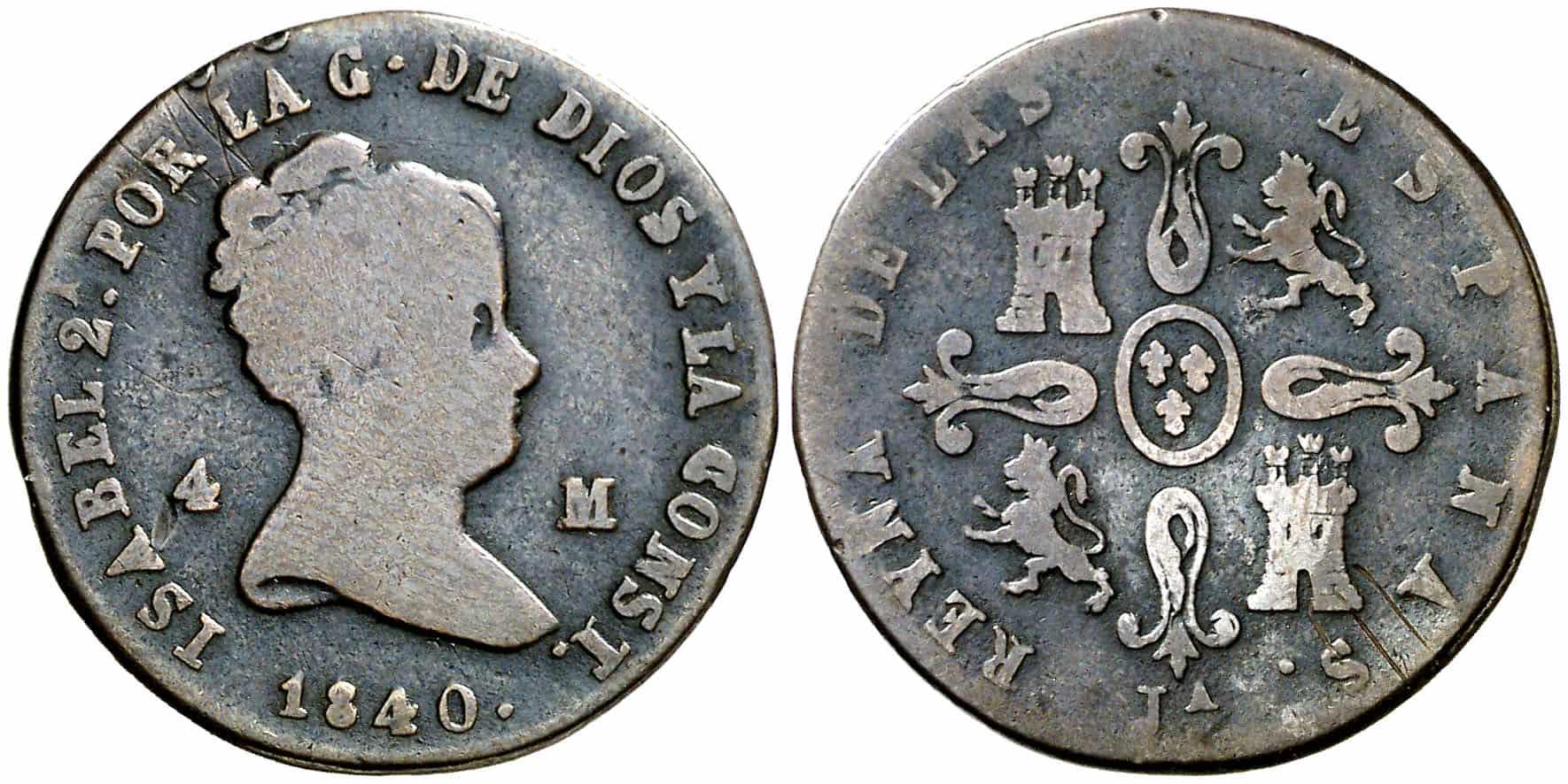 4 maravedís Jubia 1840