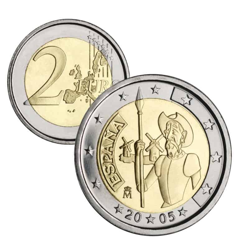 2 euros Quijote