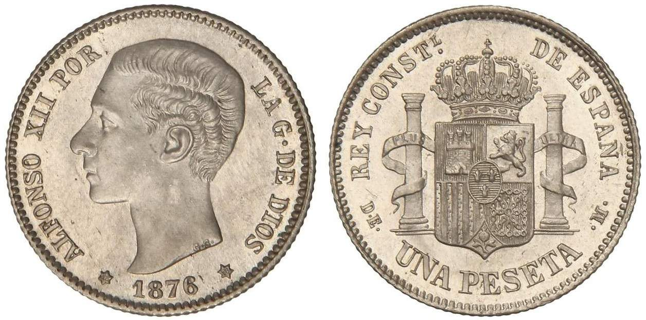 1 peseta 1876