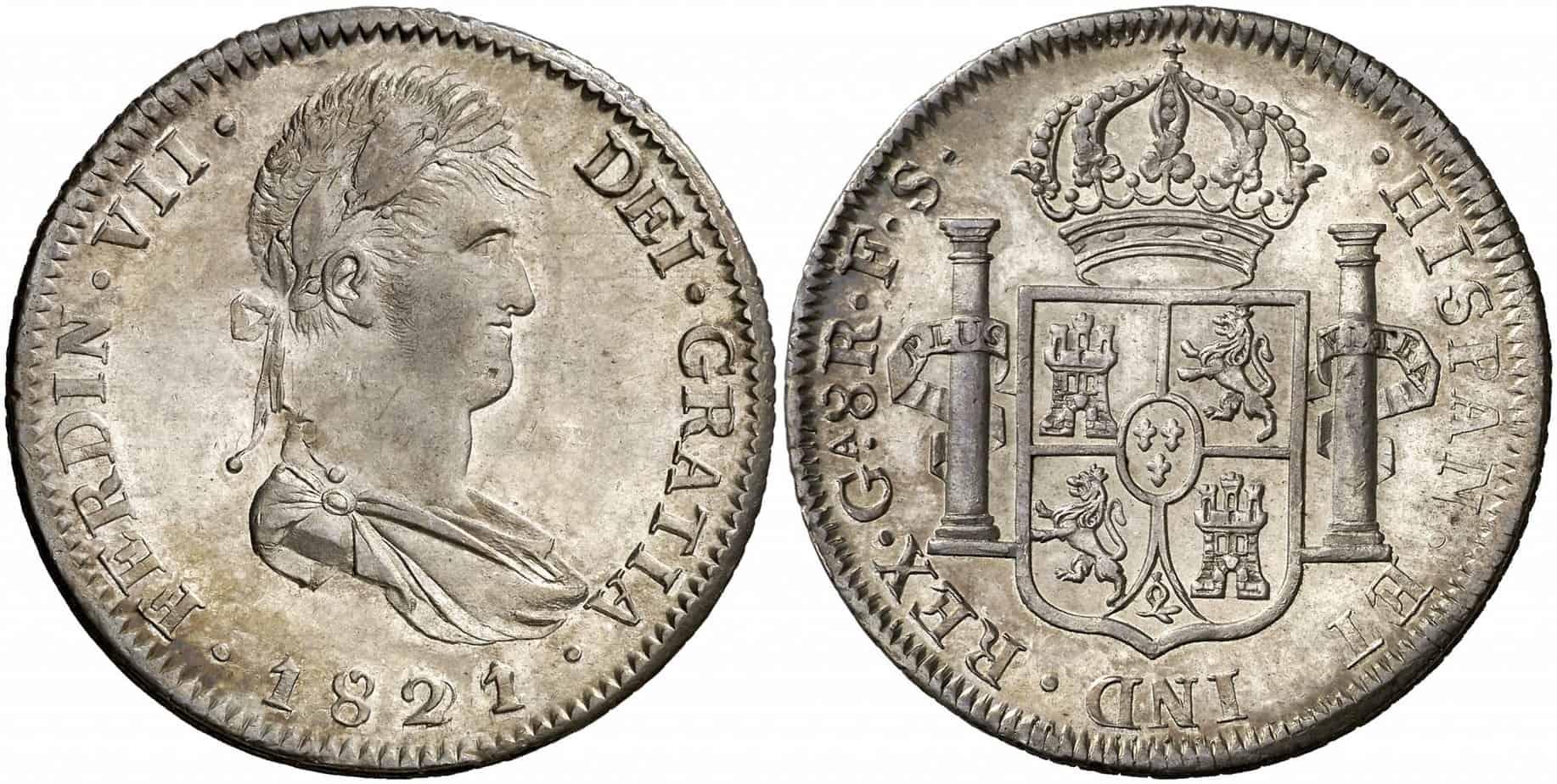 8 reales Guadelajara 1821