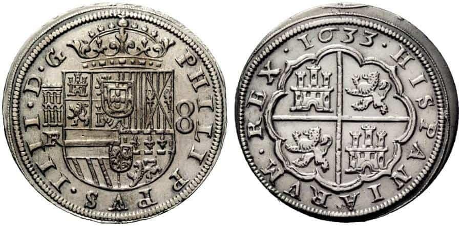 moneda acuñación desplazada