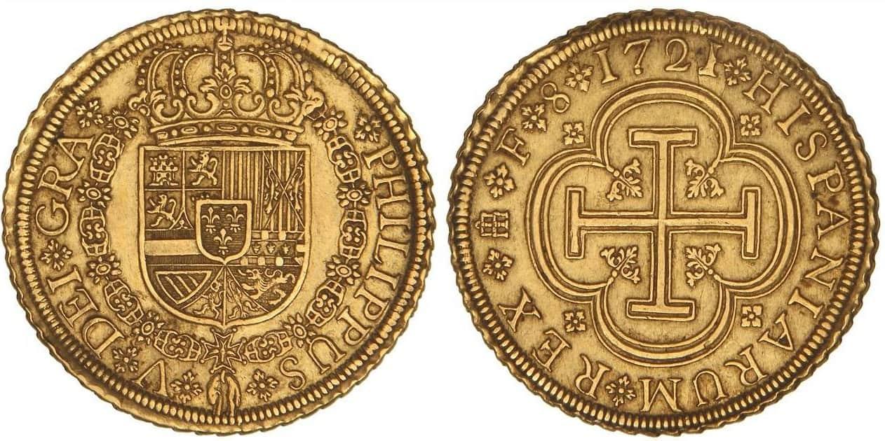 8 escudos Segovia 1721
