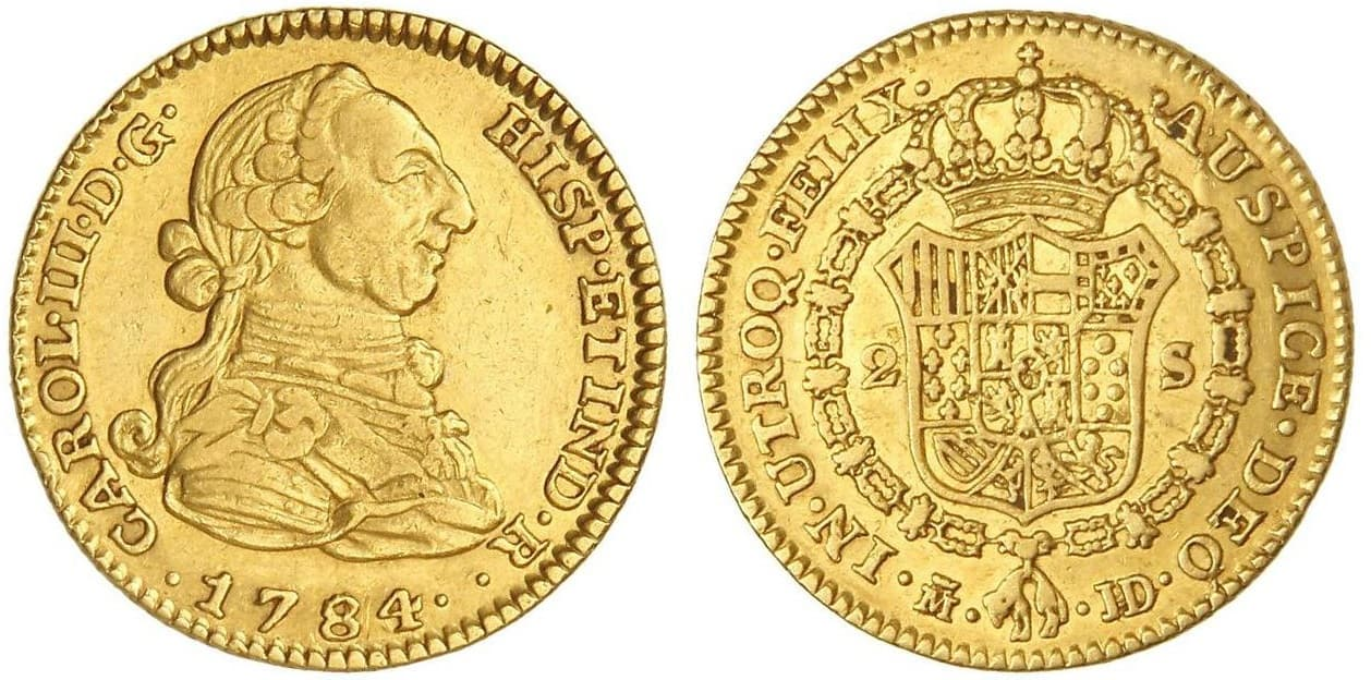 2 escudos Madrid 1784