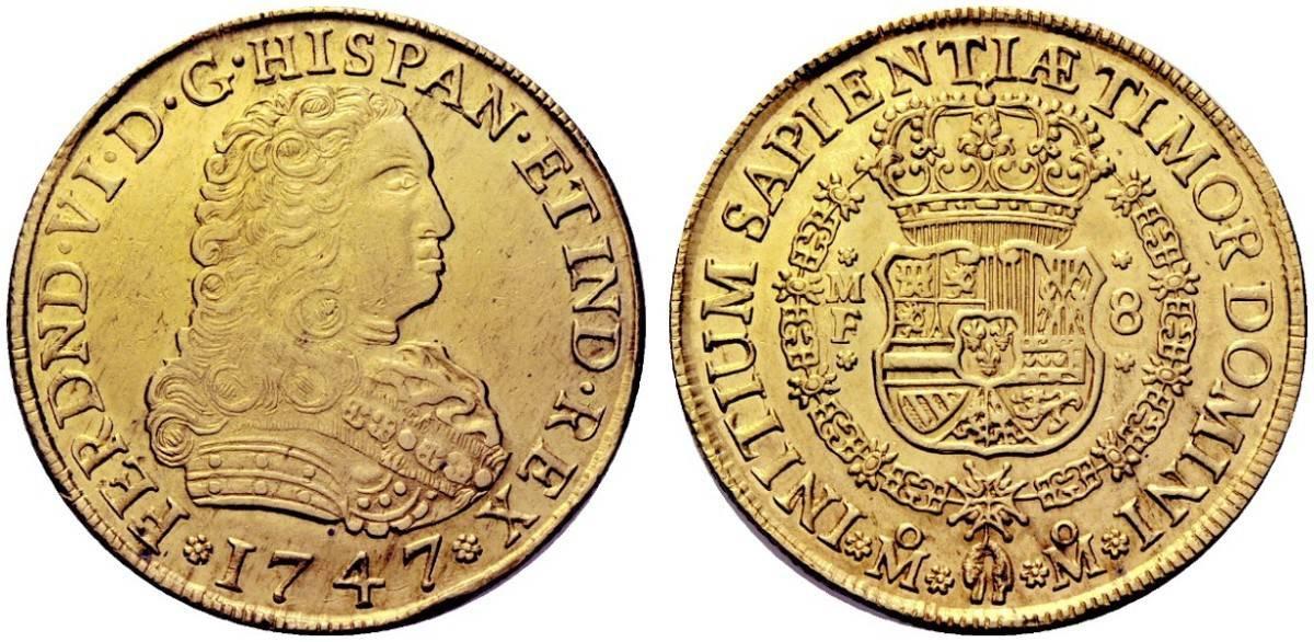 8 escudos México 1747
