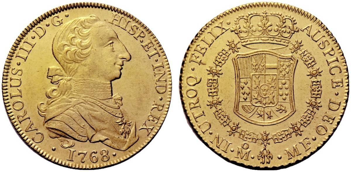 8 escudos México 1768