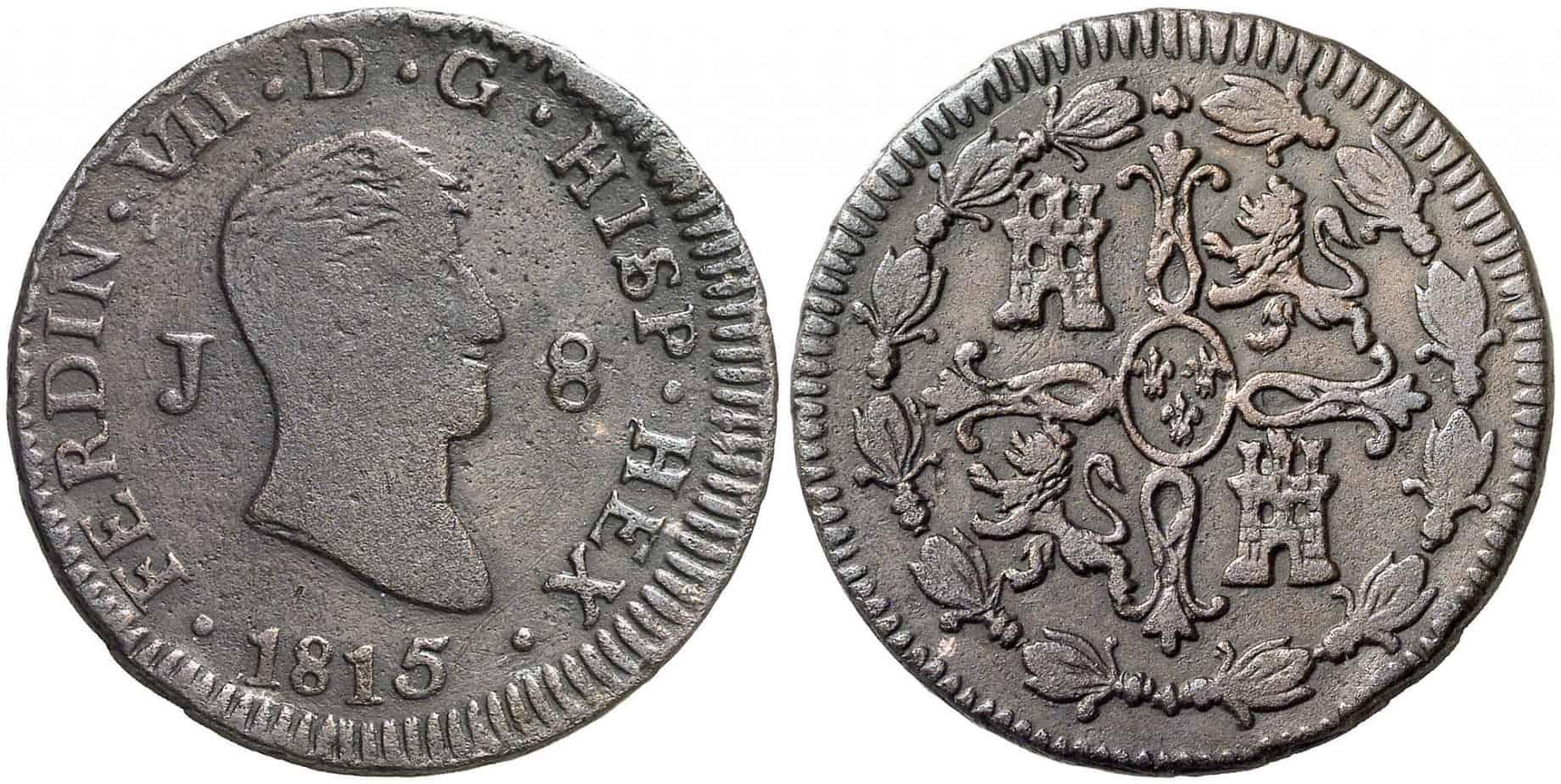 8 maravedíes 1815