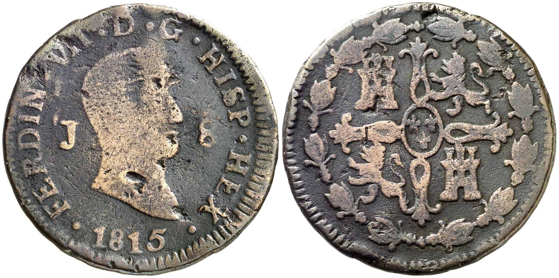 8 maravedíes 1815 HEX