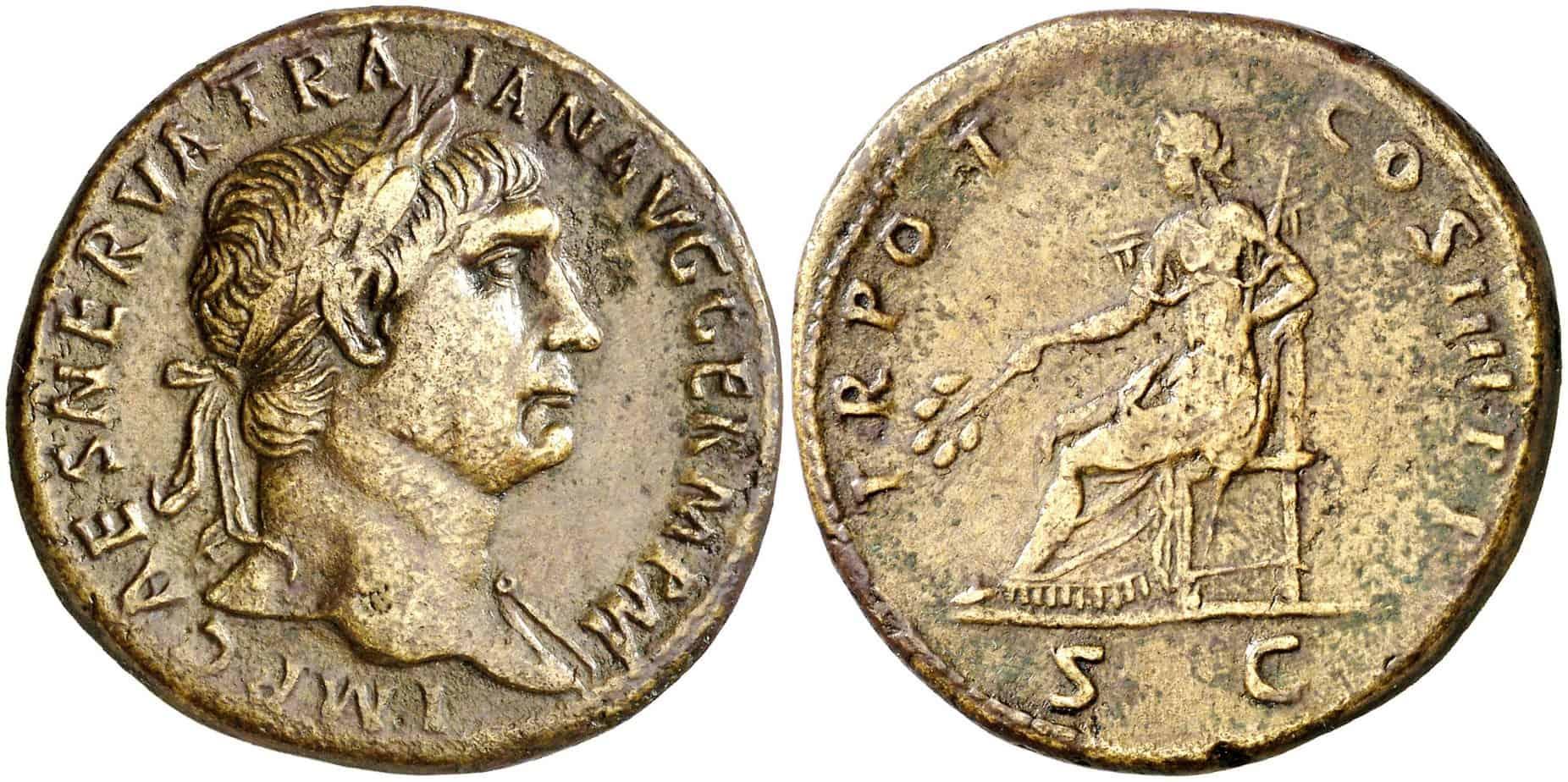 sestercio Trajano