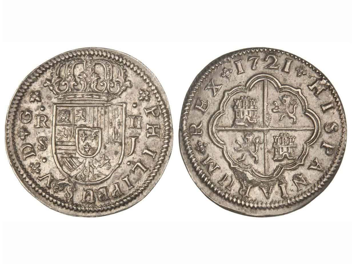 2 reales Sevilla Felipe V