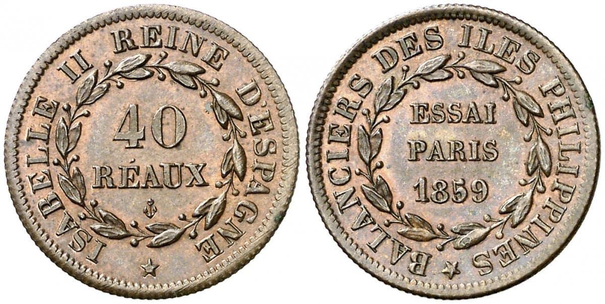 40 reaus 1859 Paris